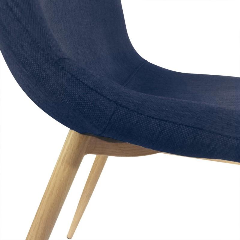 Chaises Scandinaves Karl Tissu Bleu Pas Cher Scandinave Deco
