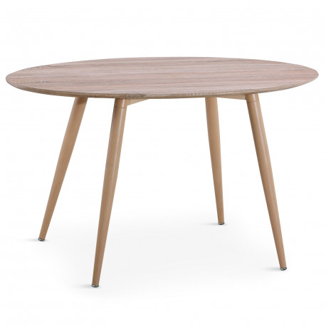 table scandinave ronde chene