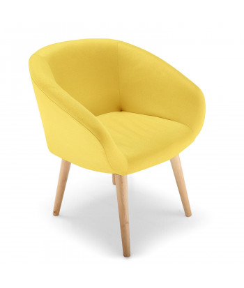 fauteuil salle a manger scandinave jaune