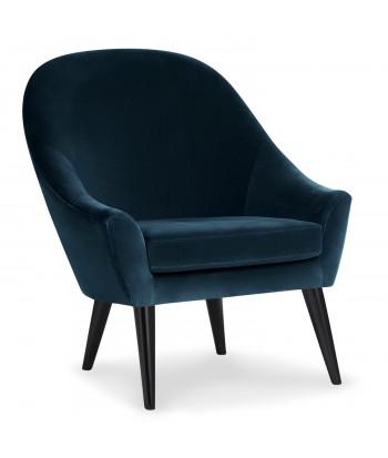 fauteuil scandinave velours bleu ohio