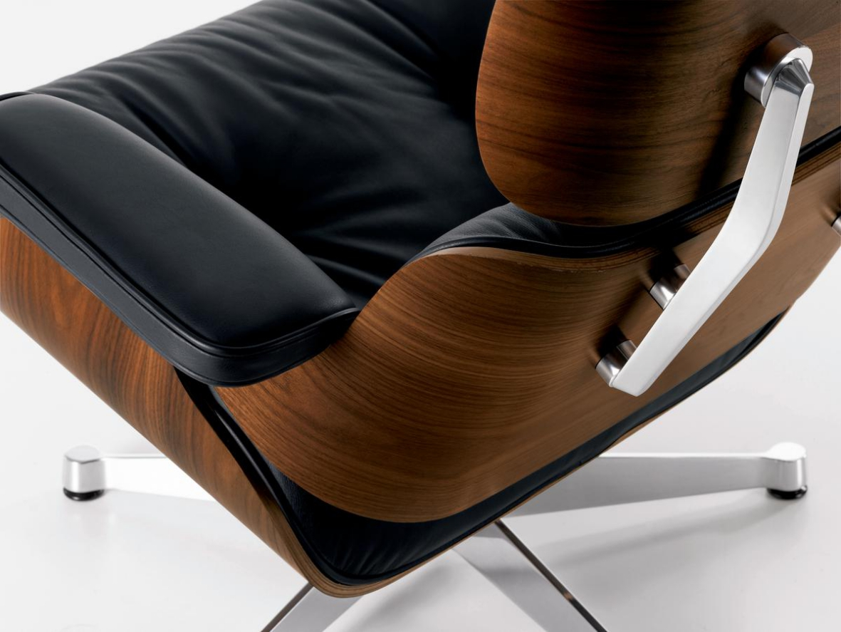 vitra lounge chair folding joinery eames and ottoman classic size