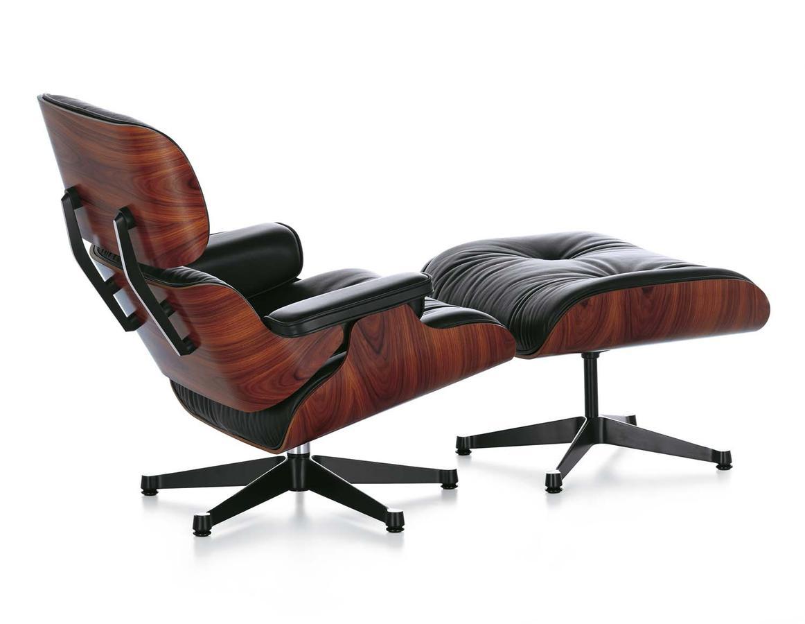 vitra lounge chair large round eames and ottoman mahogani