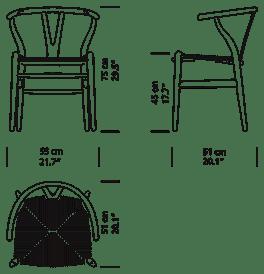 Wishbone Chair CH24 Krzesło Carl Hansen & Son