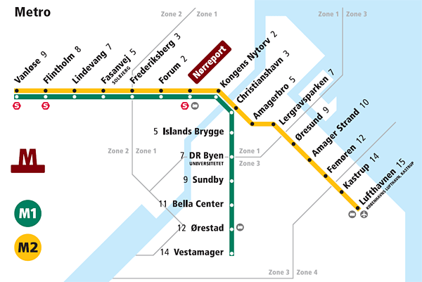 Image result for copenhagen metro map