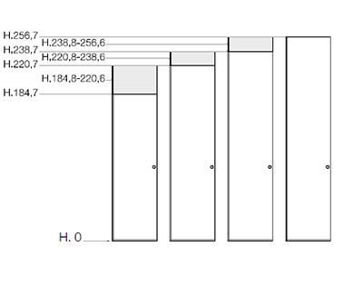 Misure degli armadi in legno Scandola Mobili