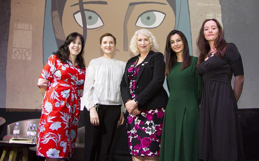 Helen O'Hara, Nora Twomey, Anne Morrison, Yalda Hakim and Kelly O'Connor
