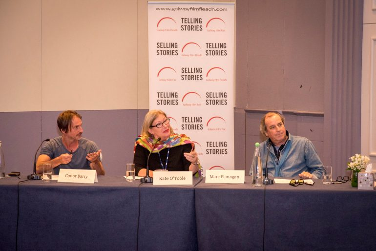 A judging panel from the Script Pitching Competition at the Galway Film Fleadh.