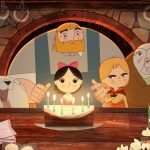 Image from the movie Song of The Sea. Song of the Sea tells the story of Ben and his little sister Saoirse - the last Seal-child - who embark on a fantastic journey across a fading world of ancient legend and magic in an attempt to return to their home by the sea. The film takes inspiration from the mythological Selkies of Irish folklore, who live as seals in the sea but become humans on land. Song of the Sea features the voices of Brendan Gleeson, Fionnula Flanagan, David Rawle, Lisa Hannigan, Pat Shortt and Jon Kenny. Music is by composer Bruno Coulais and Irish band K?la, both of whom previously collaborated on The Secret of Kells.