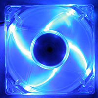 Scanstation 12cm Blue LED Case Fan - 3/4 Pin Connector