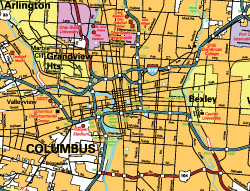 Map of Columbus