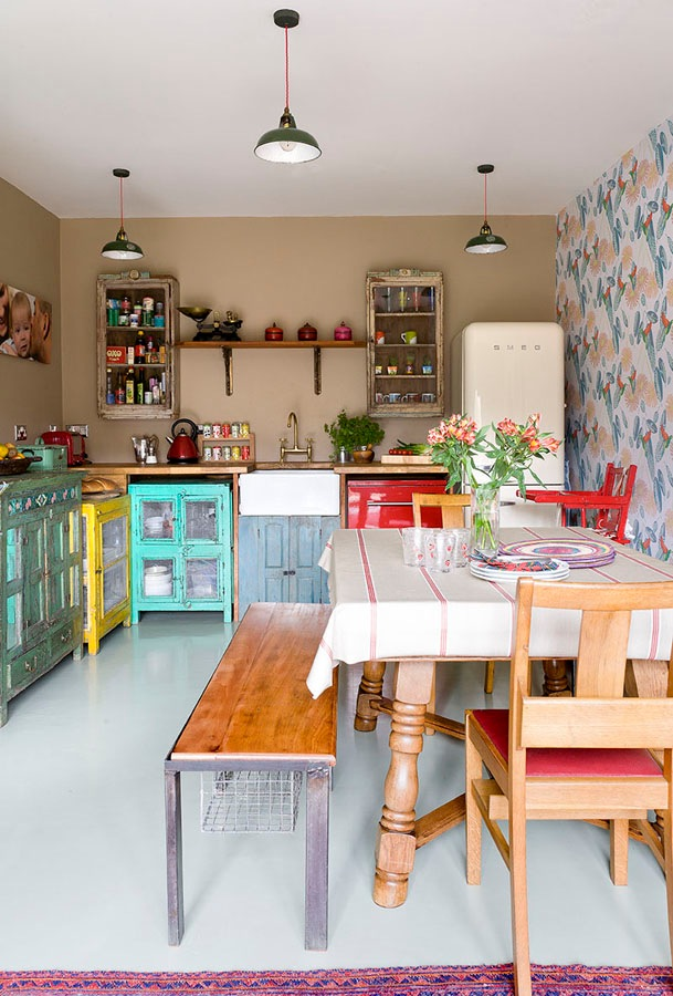 Vintage Kitchens With Modern Rustic  Retro Inspiration