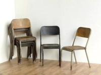 Vintage School Chairs (Pair) - Old Chairs, Stools ...