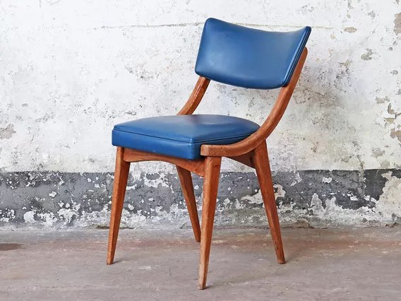 chairs for kitchen home depot doors furniture vintage blue benchairs ben chair