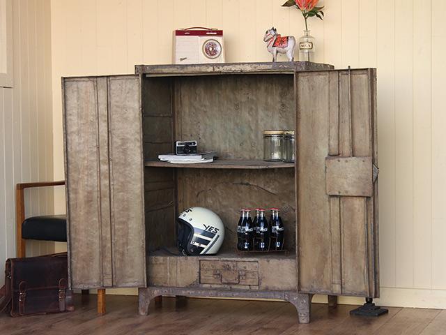 Vintage Industrial Metal Cabinet  Sold  Scaramanga