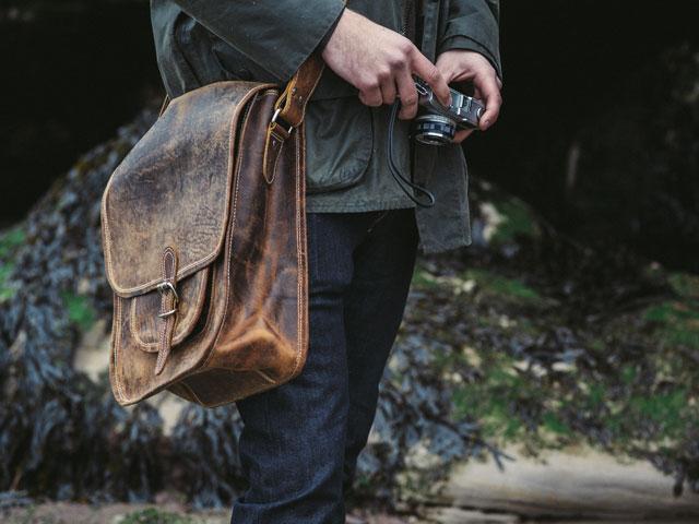 Men's Vintage Leather Saddle Bag - Sold - Scaramanga