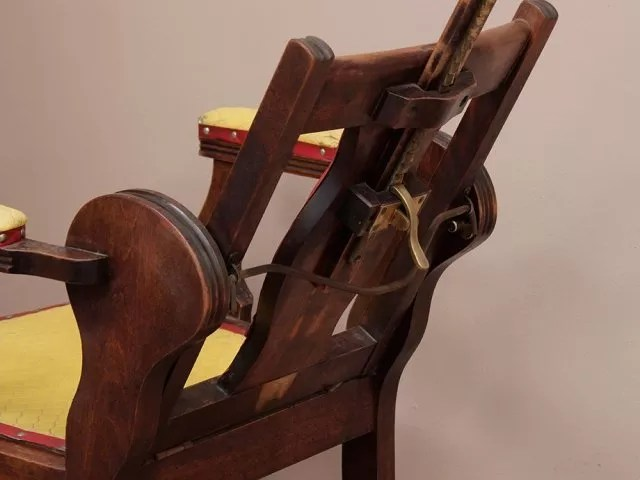 antique wood barber chair rocking chairs for nursery victorian reclining sold scaramanga thumbnail