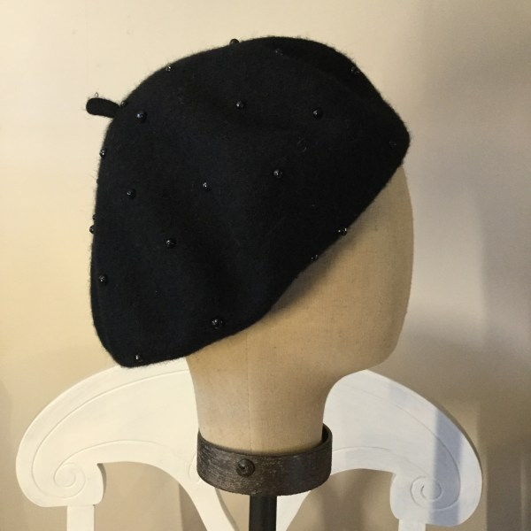 Pearl Studded Beret - Scarborough Fair