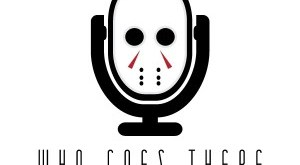 Who Goes There Podcast Logo (White)