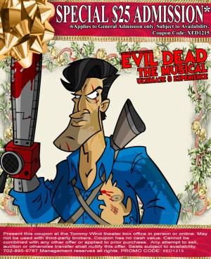 6b23fa6b5f84 Discount Tickets For Evil Dead The Musical - ScareTissue