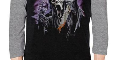 Fright Rags - Ghost Face V1 Baseball Tee