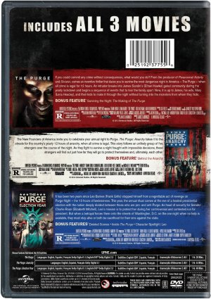The Purge Collection DVD Back