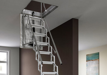 Escalier Escamotable Accordon Lectrique Et Isol