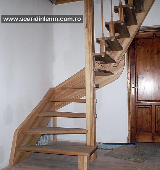 scara interioara din lemn masiv pret mic scara economica