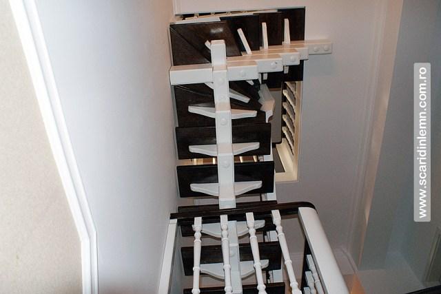 oferta pret scari interioare din lemn masiv vang modular placare trepte de lemn cu mana curenta curbarea lemnului