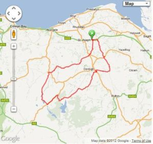 Rhyl CC Sunday club ride: 12/2/12