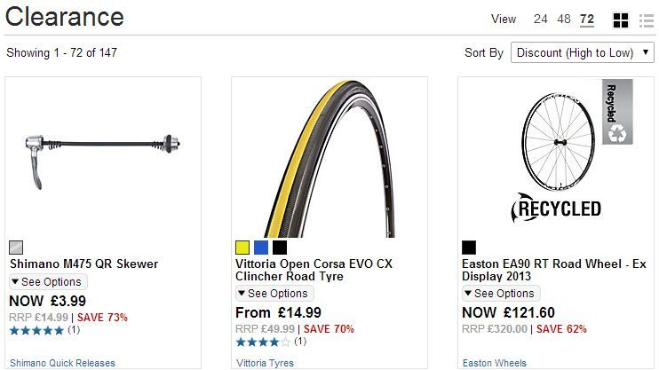 Chain Reaction Cycles discount items