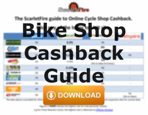 Bike shop cashback