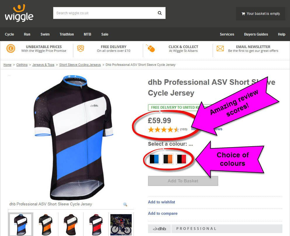 Wiggle DHB Professional ASV short sleeve Jersey