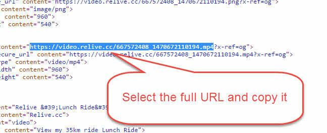 relive url