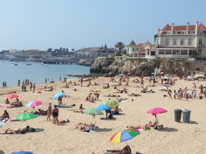 One of Cascais's beaches