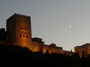The Alhambra at dusk