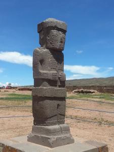 standing guard at Tiwanaku