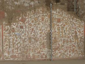 mosaic wall at Huacas del Sol y de la Lunes