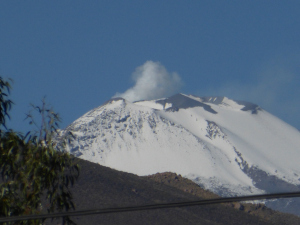 Volcano Misti puffs smoke