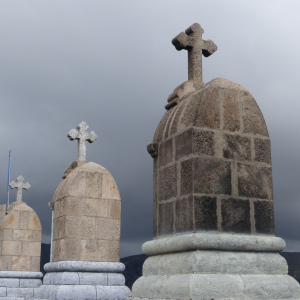 crosses on the hilltop