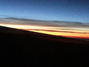 sunrise over the Andes