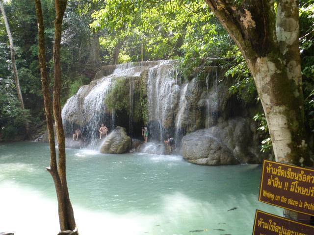 Erewan waterfalls near Kanchanaburi