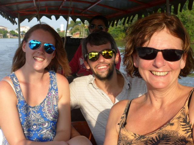 Enjoying Ayutthaya with new friends