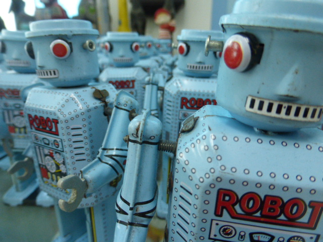 robots in the toy museum at Ayutthaya