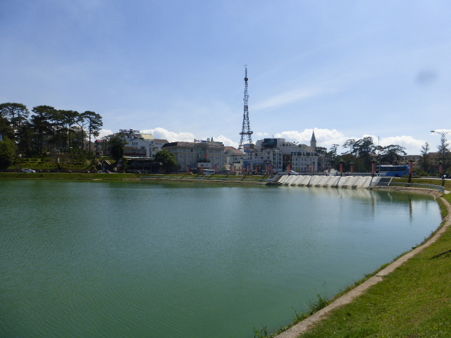 Dalat Lake in the sun