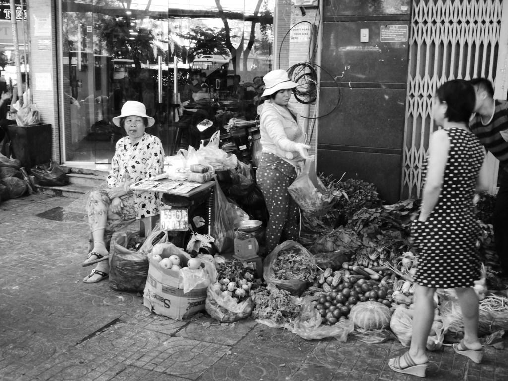 street traders outside my hostel