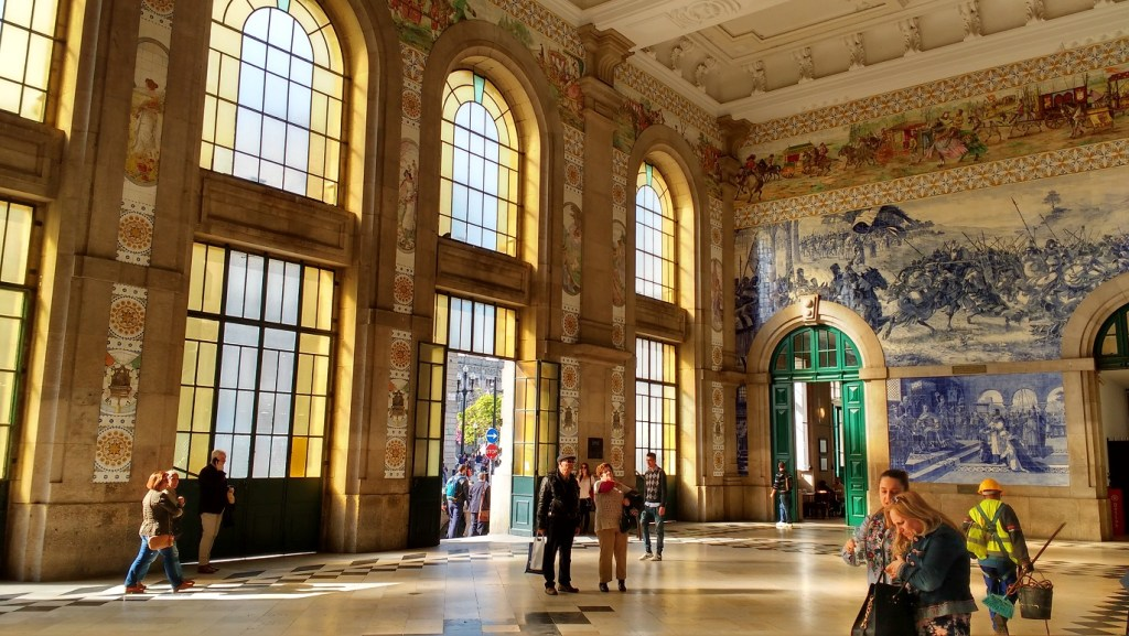 the wonderfully tiled station in Porto is well worth a look