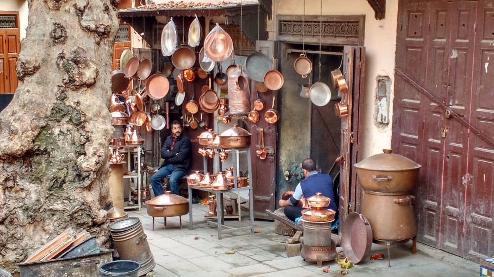 the metal working quarter in Fez