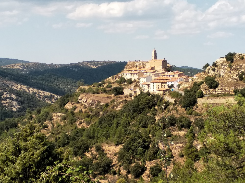mountain village in Spain on Spanish motorbike tour