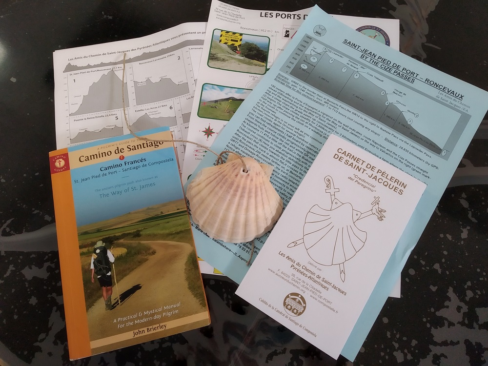 passport and documents for the camino de santiago