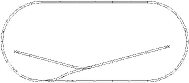 Bachmann N-scale Track Plan #1